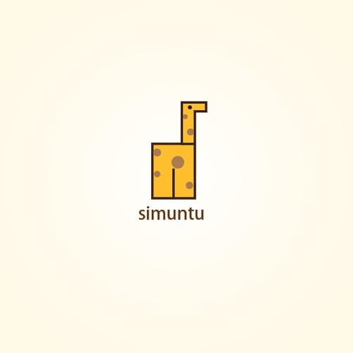 logo for simuntu: A niche social network startup