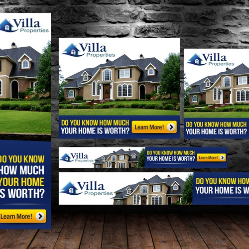 Create the next banner ad for Villa Properties