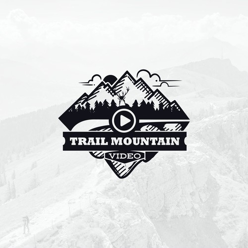 Logo for trail mountain video service company. Unfortunately in the middle stage the contest change the title to oil and gas company.