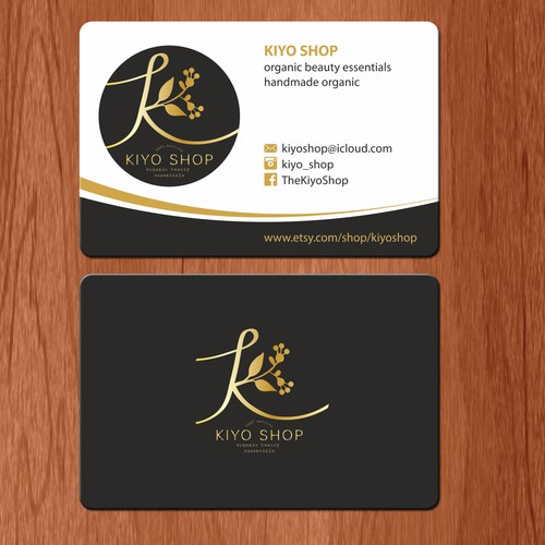 Business card for kiyo shop