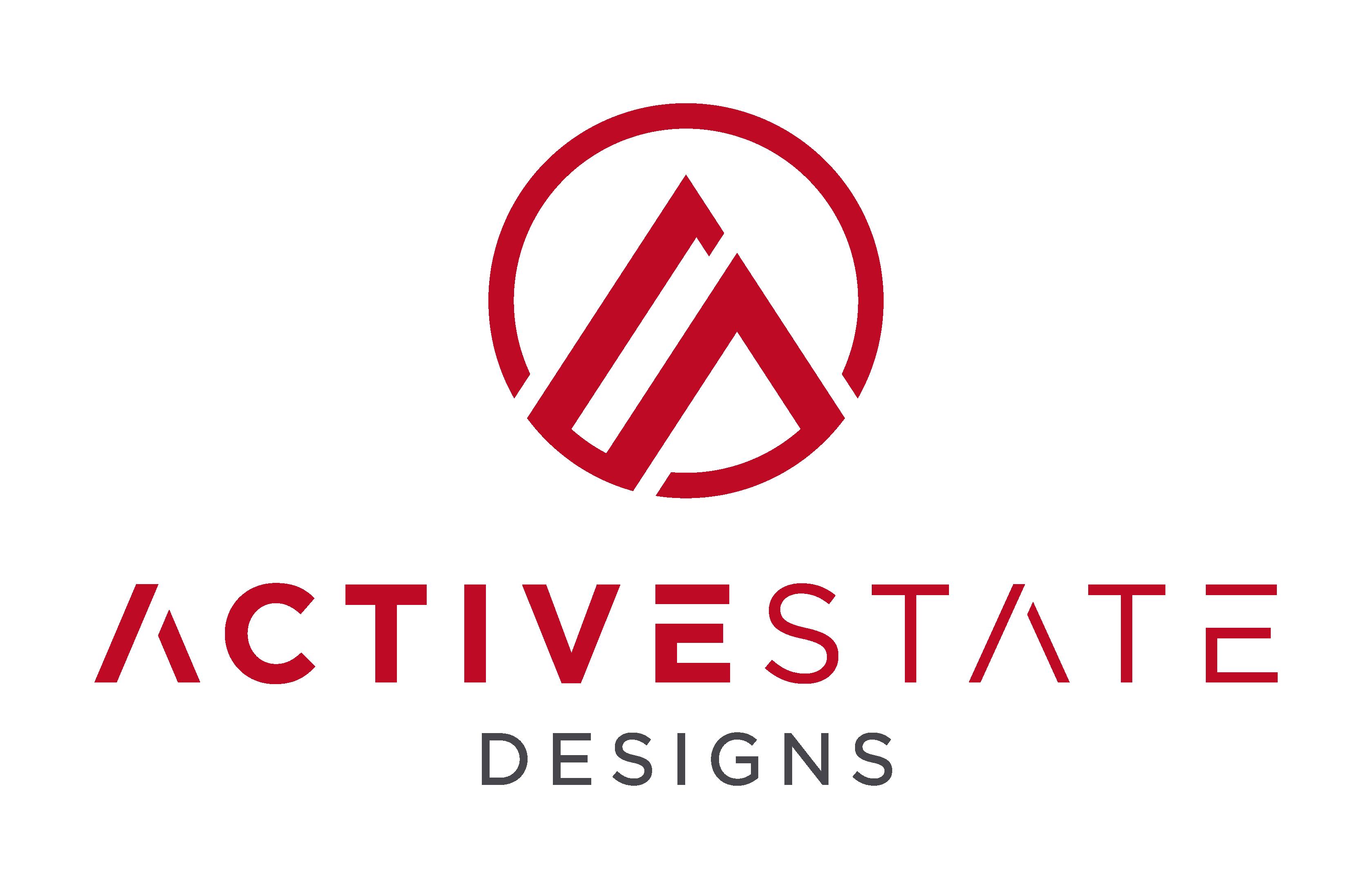 Design a sleek logo for ActiveState Designs, a Denver based active clothing company.