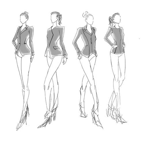 Illustration for fashion company