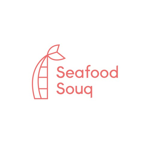 Logo concept for a seafood startup