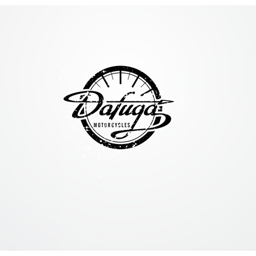 Create a vintage logo for out of time cafe racer motorcycles