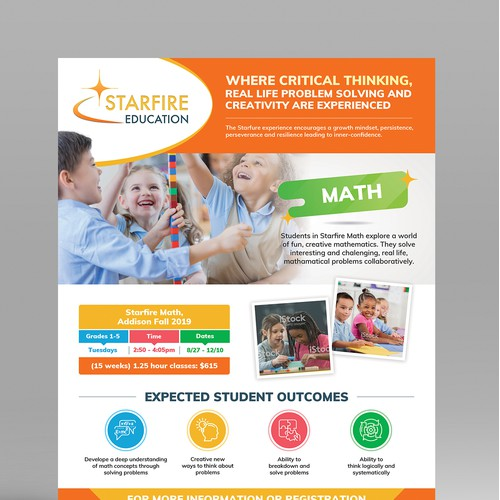 Flyer Design for Kids After School Programs