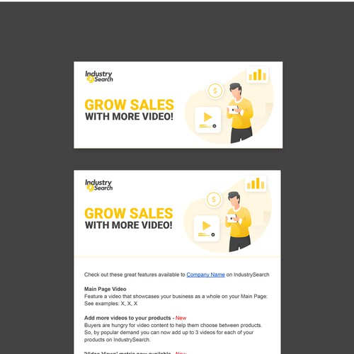 Email template banner