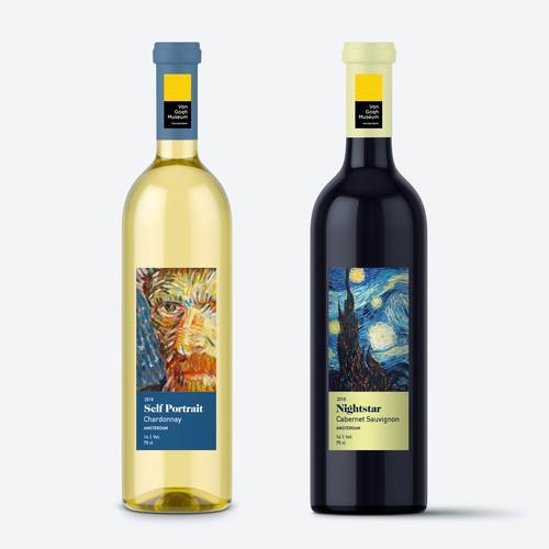 Van Gogh theme wine