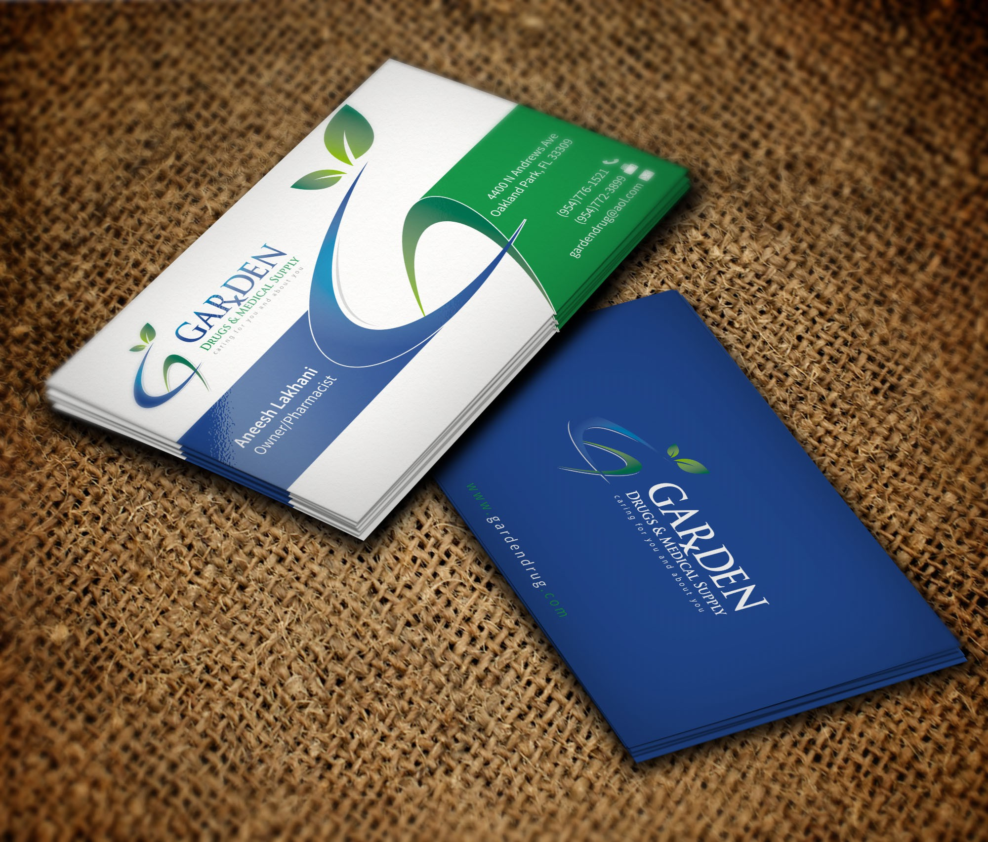 """Create a Catchy Business Card for your """"Hometown Pharmacy"""""""