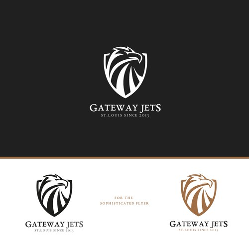 Logo design for a private jet rental company from st.louis