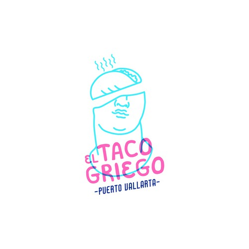 Greek taco restaurant logo