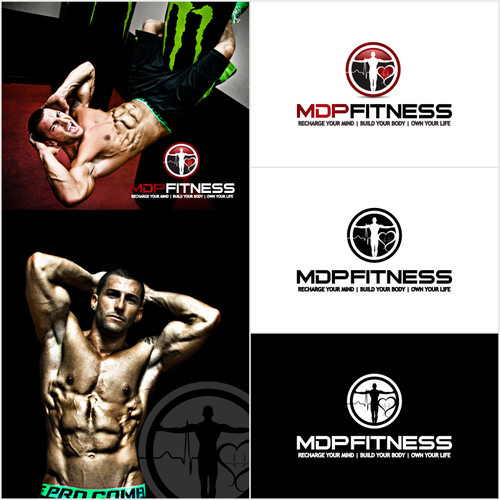 FItness website header, logo with photos attached to it!!
