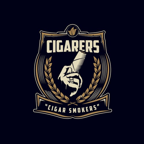 Logo for cigar lounge.