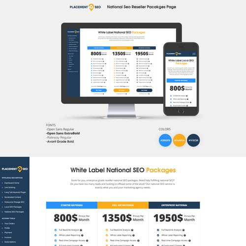 Redesign product pages for a large marketing agency