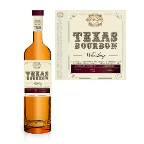 whiskey label texas bourbon