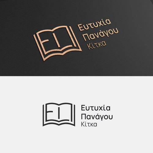 """Logo for notary office """"Ευτυχία Πανάγου Κίτκα""""."""