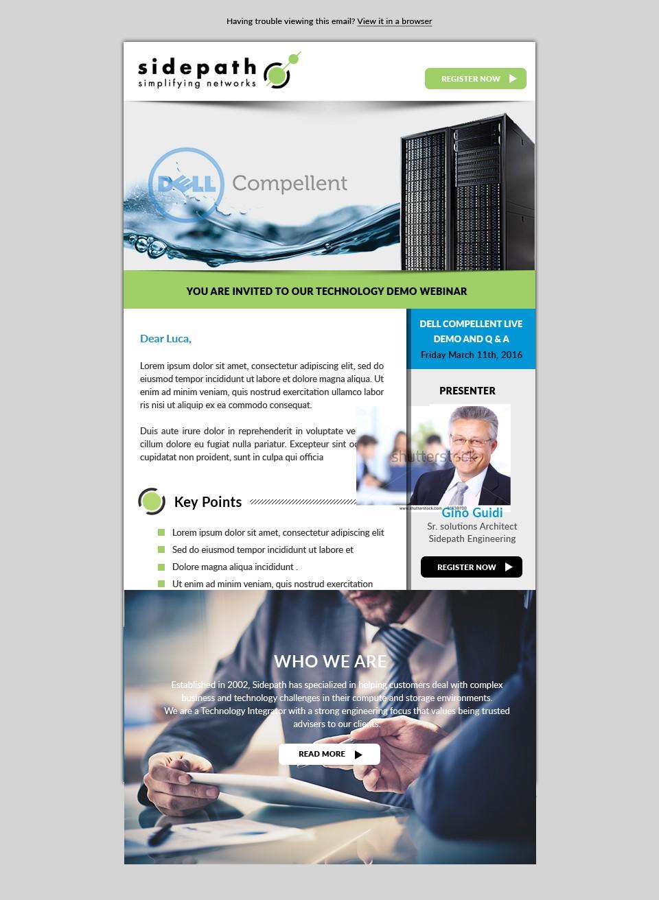 Webinar Email Invite (Template)