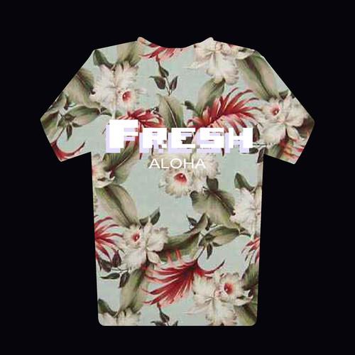 Design a hip FLORAL PRINT design for apparel!