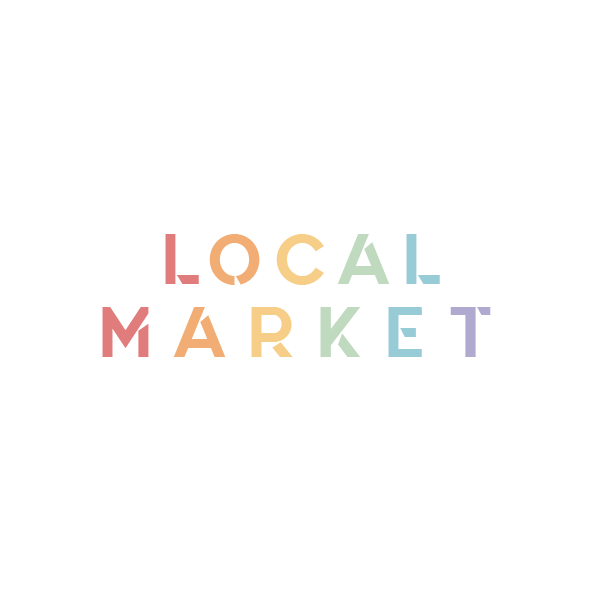 Pastel Rainbow Logo for Local Market