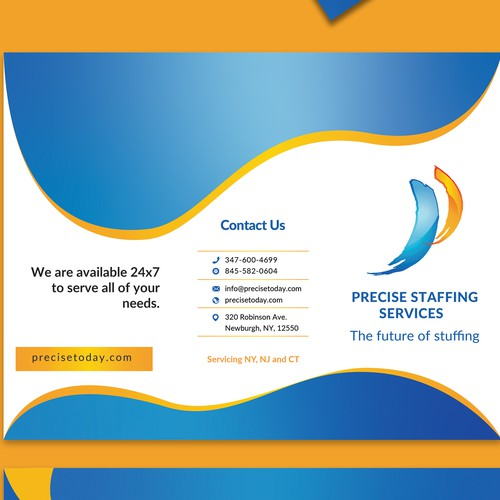 A4 Trifold Brochure for Precise Dental Staffing