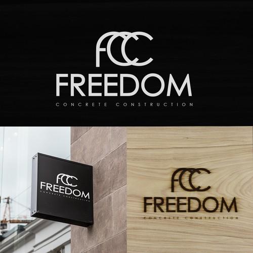 2nd Logo design for Freedom Concrete Construction
