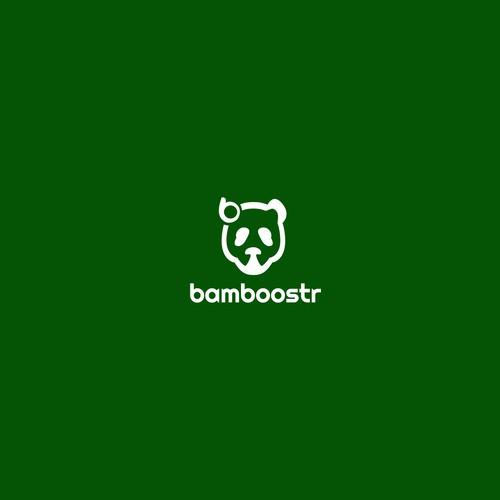 Create an inspiring and creative logo of a Panda  eating bamboo !!
