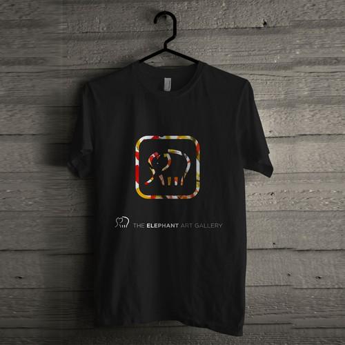 Tshirt design THE ELEPHANT ART GALLERY
