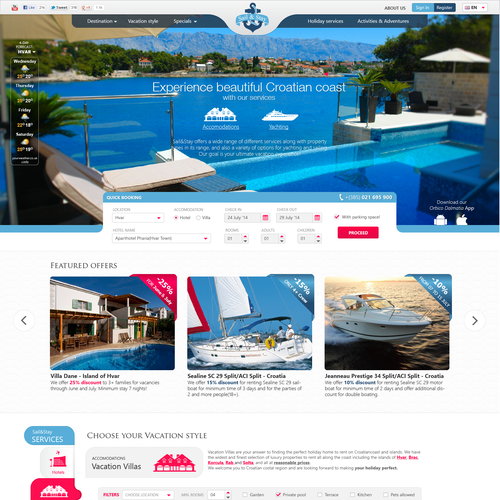Create refreshing & dynamic website  for luxury vacation (villas & yachts)