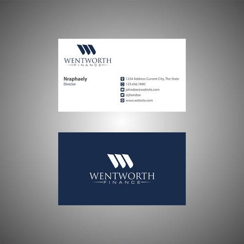 Logo & Business Card Wentworth Finance