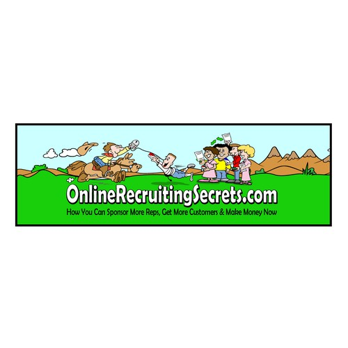 Create a Super Fun, Rootin Tootin' Design for OnlineRecruitingSecrets.com