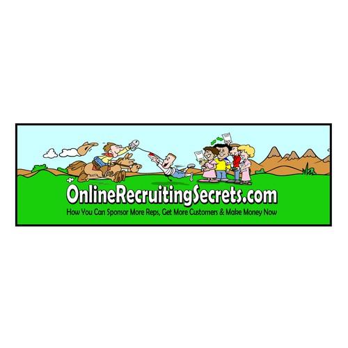 Create a Super Fun, Rootin Tootin' Design for OnlineRecruitingSecrets.com