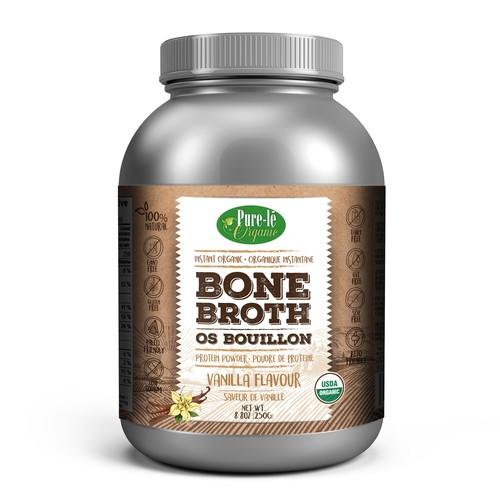 Design premium playful label for Organic Bone Broth