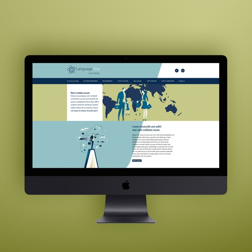 Webdesign for a new part of Language One