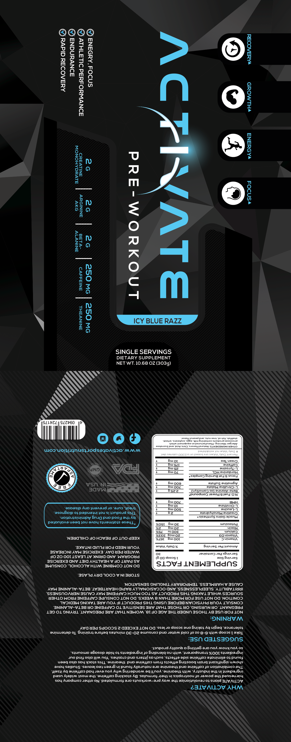 Activate sample pack label