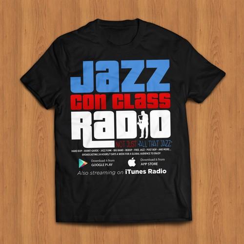 T-Shirt Logo For Online Classic Jazz Radio Station