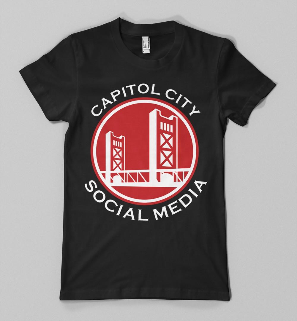 Create the next apparel design for Capitol City Social Media