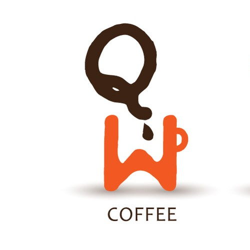 QW coffee shop logo THIS DESIGN IS AVAILABLE