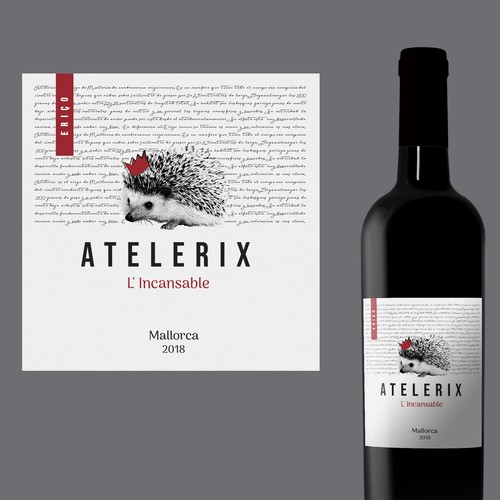 Label for Mallorca wine