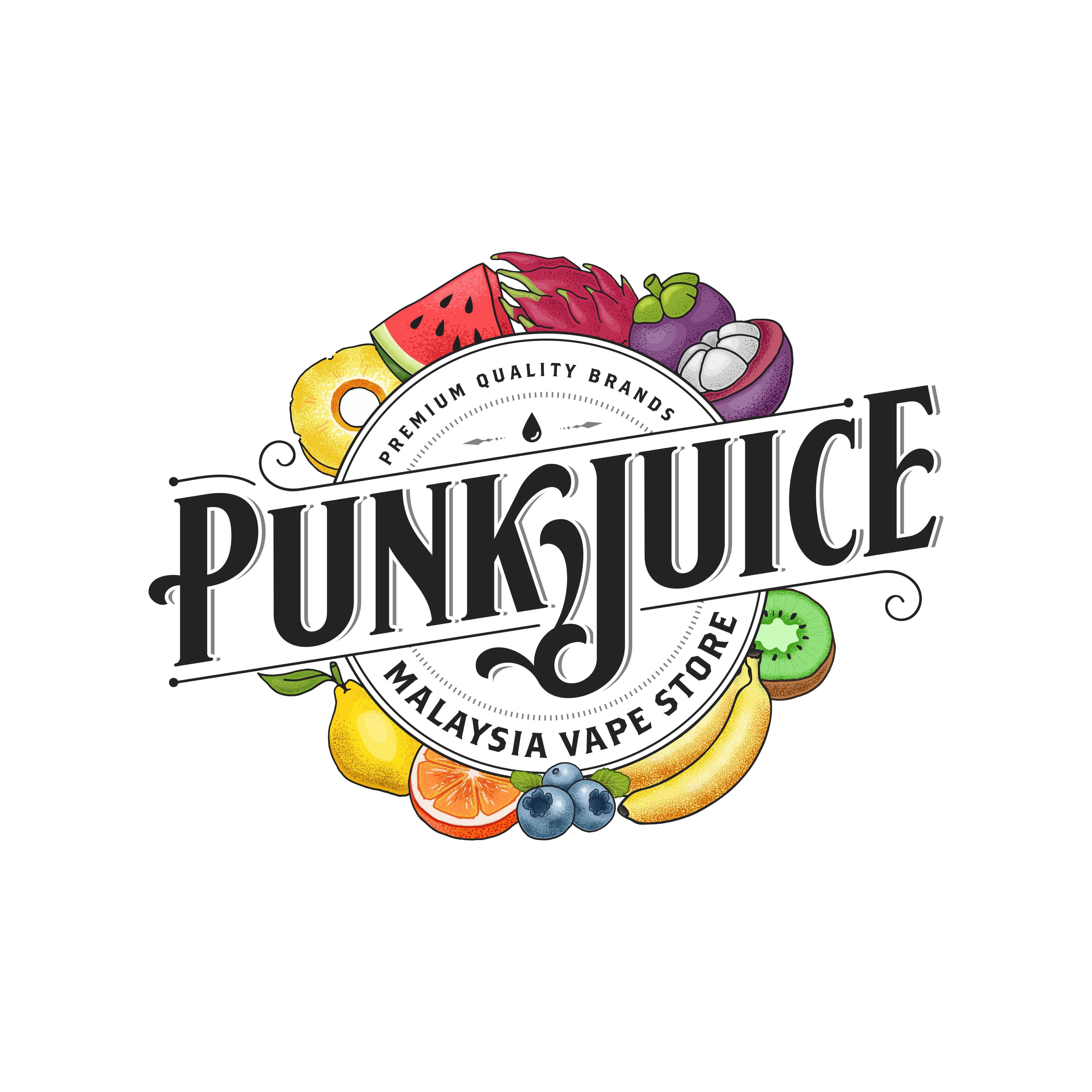 Logo for Punkjuice, a website selling Malaysian made eliquids (NO THC OR CBD)
