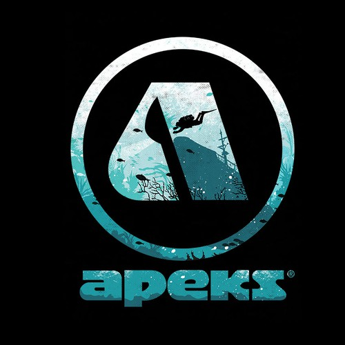 T-shirt design for APEKS®: British manufacturer of scuba diving equipment based in Blackburn.