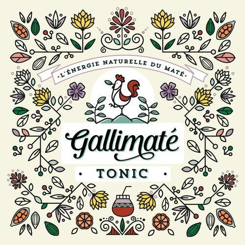 Gallimaté Tonic Water || Label Design