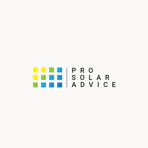 Simple and Modern Logo for Pro Solar Advice blog