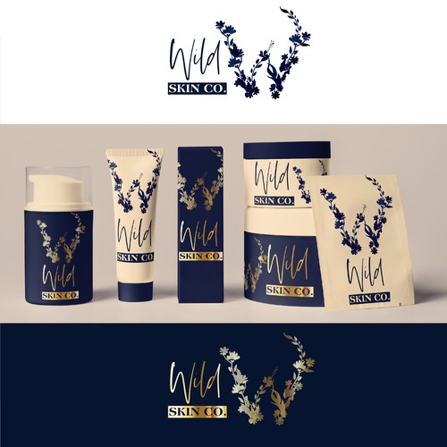 Logo and Packaging concept for skin care products