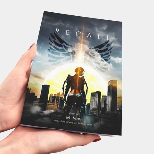 Book Cover Design for novel Recall