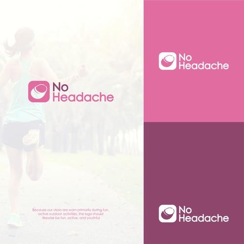 No Headache logo design