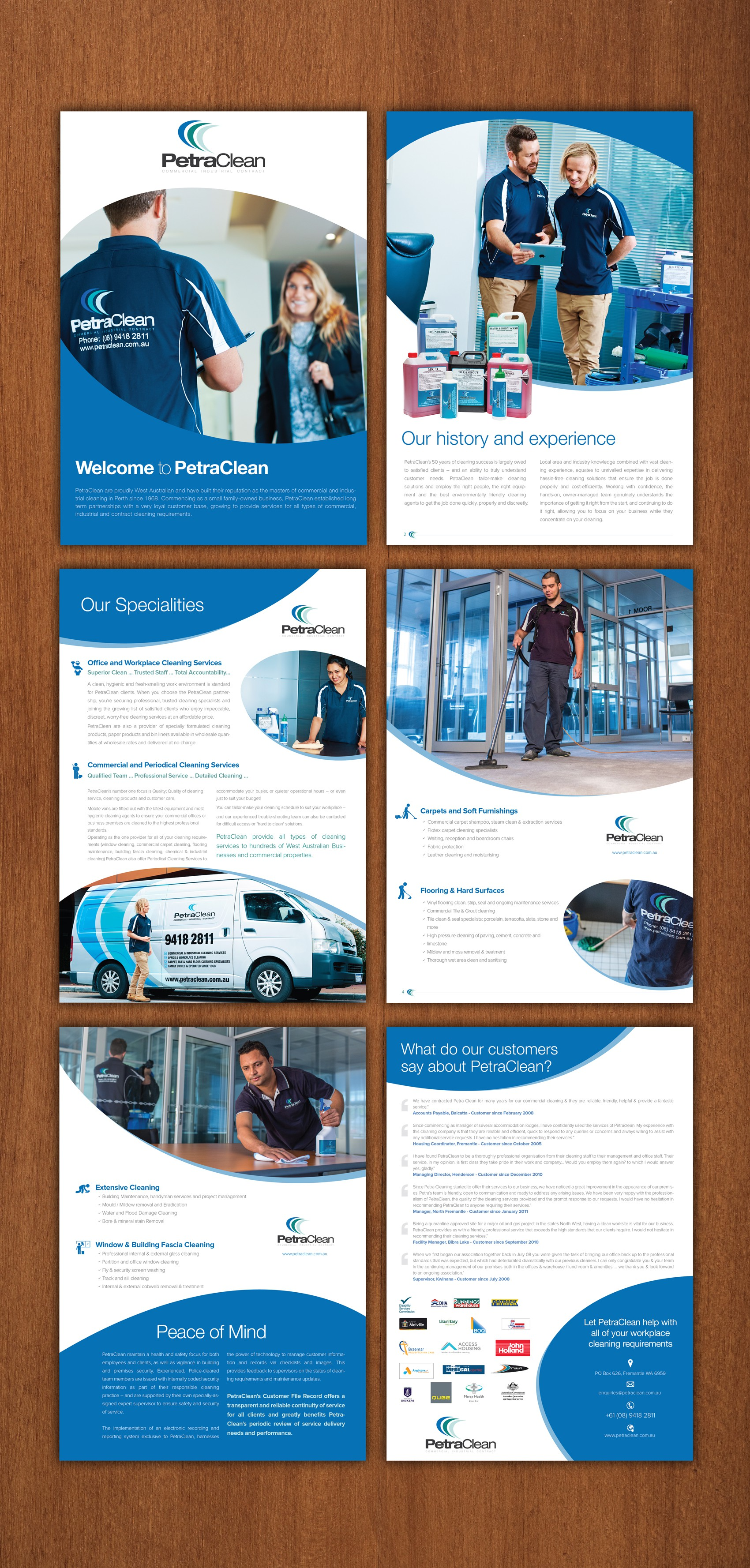 Create a great looking, professional company flyer for PetraClean