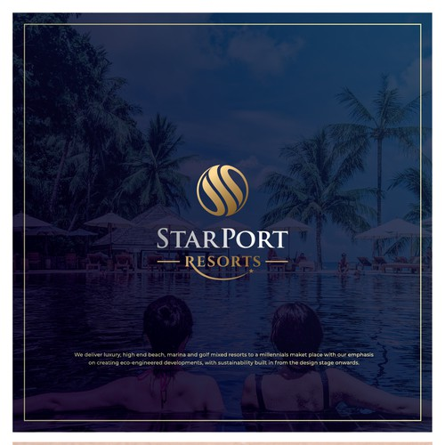 Luxury Logo for StarPort Resort