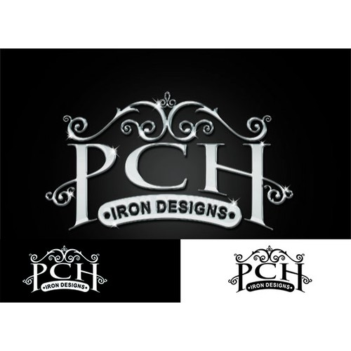 PCH Iron Design logo for custom highend metal work based in California