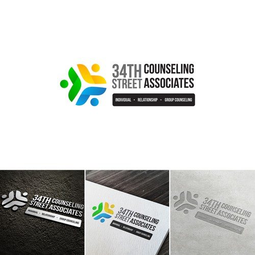 "Logo concept of ""34thStreet Counseling Associates"