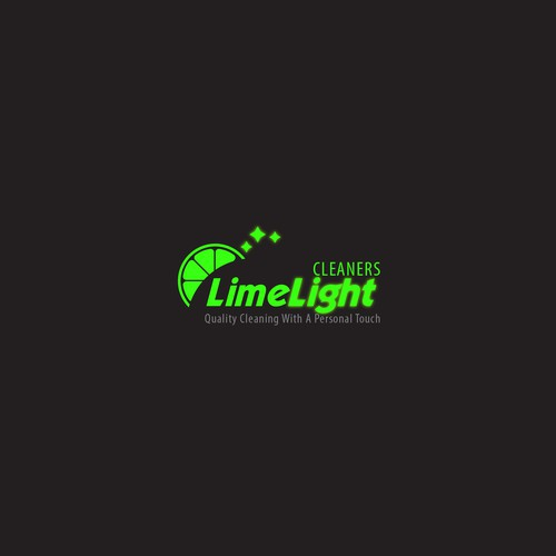 modern and luqury logo for LimeLight Cleaners