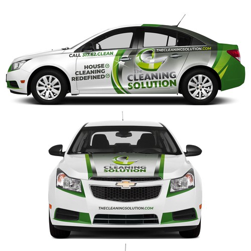 Simple & Bold Cleaning Solution vehicle wrap